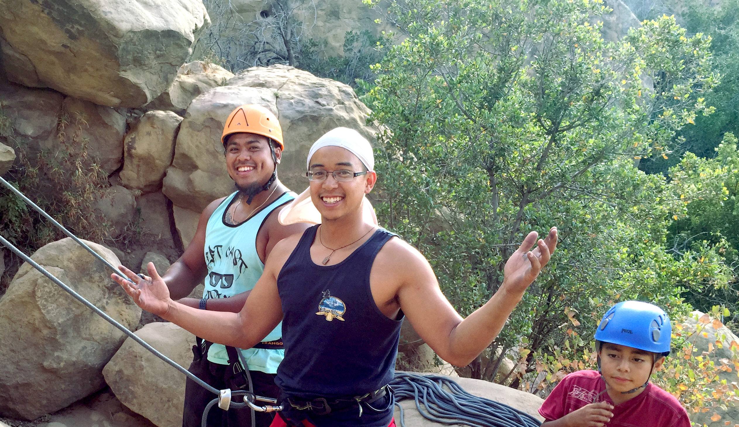 DeeJay and Jeremiah climbers