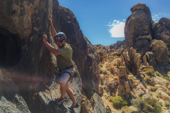 sport climbing class, rock climbing outdoors, rock climbing in joshua tree, CA