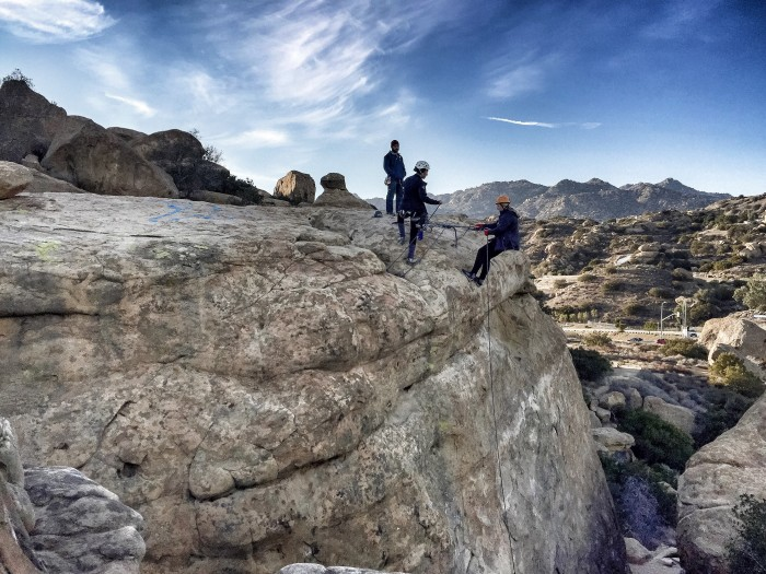 Learn to rappel in Los Angeles, CA and Joshua Tree National Park