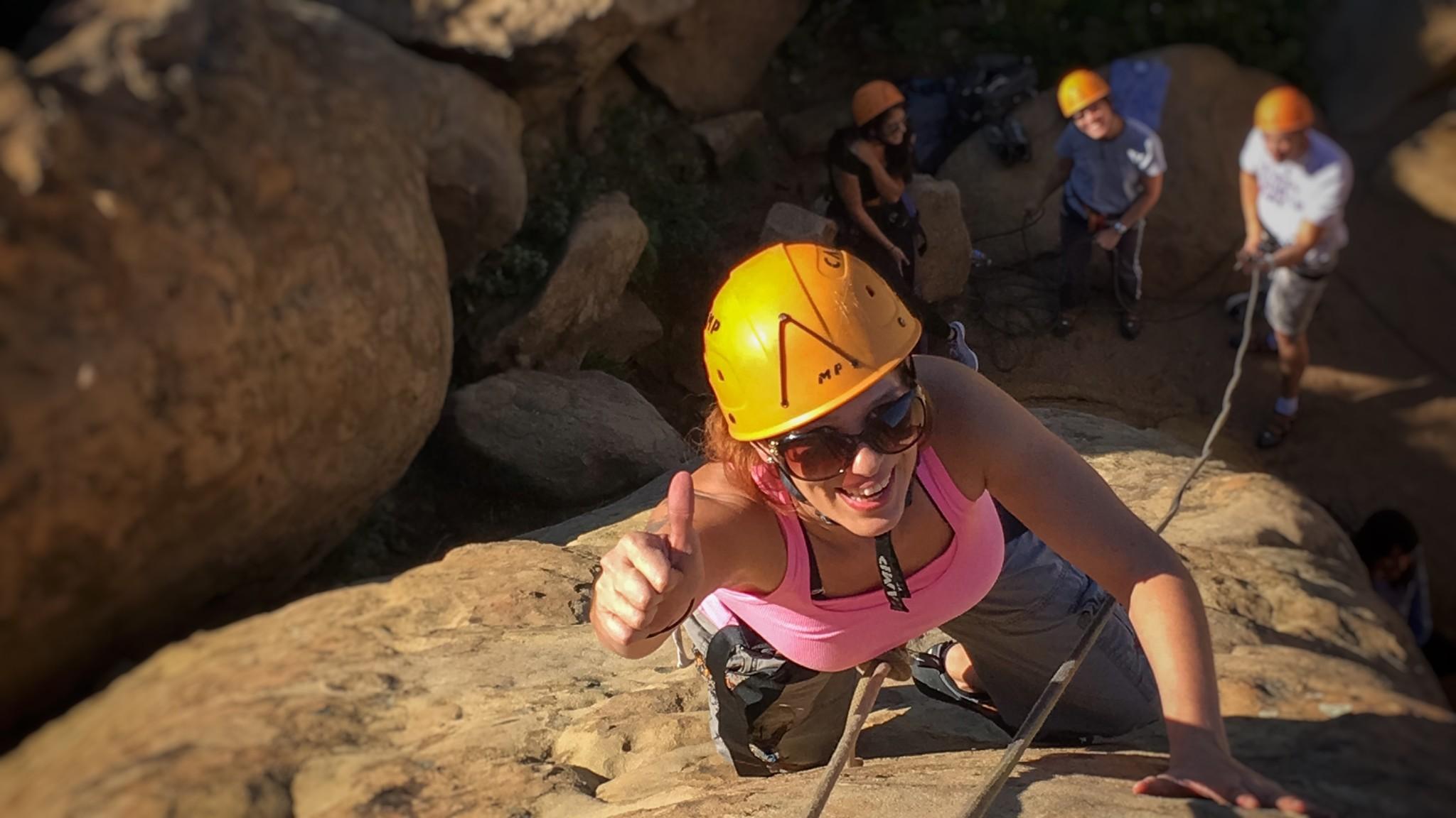 rock climb, climbing class, los angeles, joshua tree, california, climbing