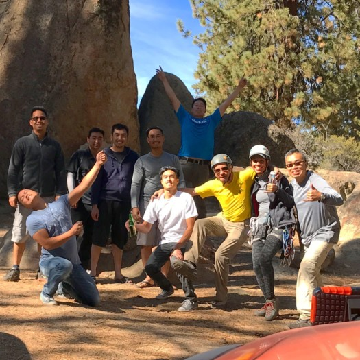 group activities, team building, group climbing, outdoors, active, group, friends, activities, fun, try something new, los angeles, california, joshua tree