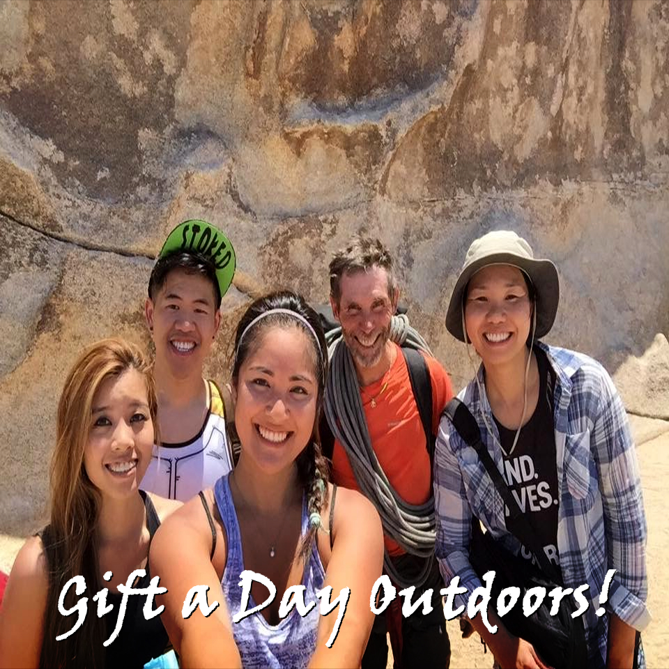 rappelling, climbing, rock climbing, los angeles, climbing classes, riverside, big bear, apple valley, joshua tree, california, adventures, gift cards, gift certificates, unique gifts, climbing, gifts, holiday, birthday, graduation, anniversary, unique