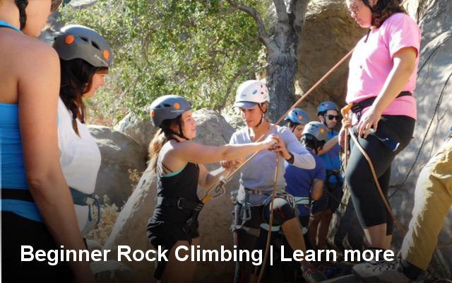 beginner, intro, rock, climbing, class, los angeles, joshua tree, riverside, apple valley, big bear, california