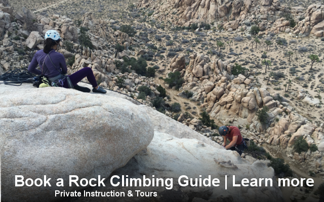 book, rock, climbing, guide, private, instructor, instruction, trip, guided, joshua tree, los angeles, school, tours, california