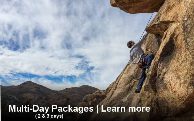 multi, day, outdoor, rock, climbing, packages, tours, activities, active, joshua tree, things to do, california, best, adventure