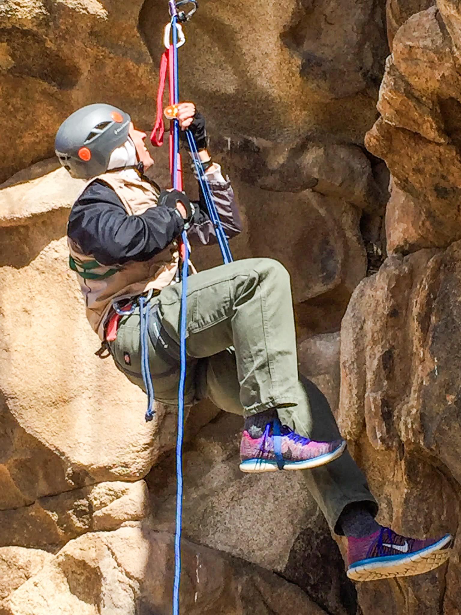 Darius-ascending-rappelling-rope