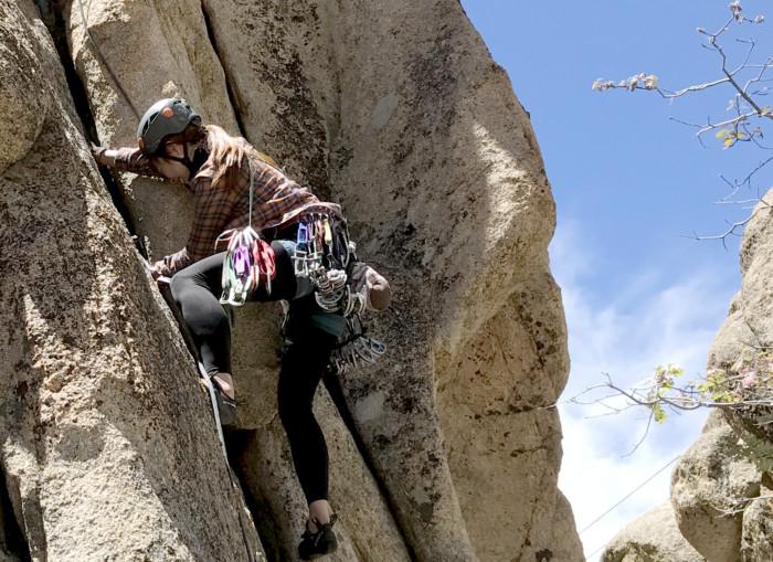 trad climbing, traditional climbing, trad lead, california, joshua tree, lead class, lead climbing, learn to lead, trad climbing class