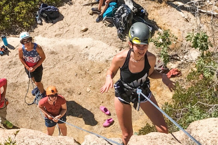 multi-day climbing packages, rock climbing packages, climbing packages, rock climbing, climbing classes, outdoor climbing school, rock climbing classes, california, los angeles, joshua tree, rappel