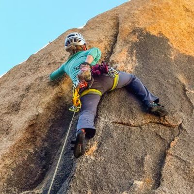 climbing equipment, women, sport, lead, climbing, outdoors, los angeles, joshua tree, california, rock, class, lesson, how to, course